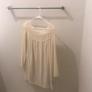 New cream colored silky dress